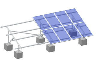 Aluminum Ground Mounting System-2 Slots U Beam